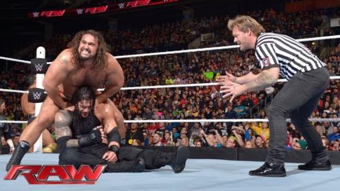 WWE罗曼大帝对阵鲁瑟夫,他竟趁机向罗曼出手,只会让罗曼出手更狠!