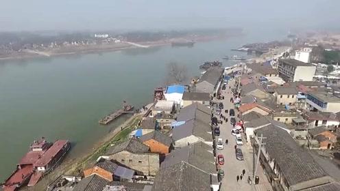 高清航拍,第一批中国特色小镇,安徽铜陵大通古镇!