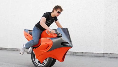 国外小伙发明独轮摩托车,没有油门没有刹车,一辆售价3万元