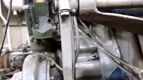 科技探秘:1960生产的船用柴油发动机,尽管年龄很大,发动机仍正常