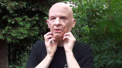 """国外小伙发明""""人皮面具"""",60岁大爷秒变18岁少女,仿真到极致"""