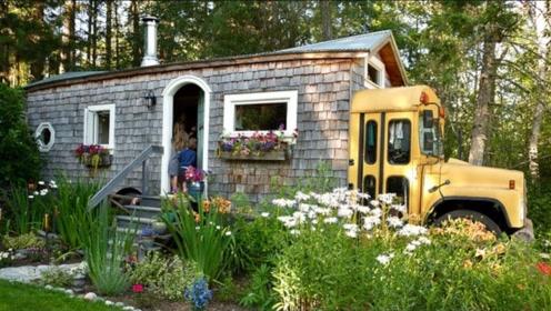 小伙倾家荡产改装校车出游,一年后回归,又把房车改装成了新家!