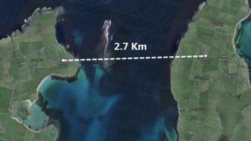 世界上最短的航班,飞行全程只有47秒,为什么不走过去呢?
