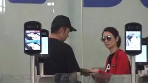 雨过天晴?洪欣张丹峰带女儿美国游玩 夫妻俩机场有说有笑