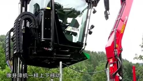 卡车驾驶室能升降可旋转,倒车也可以像正着开一样