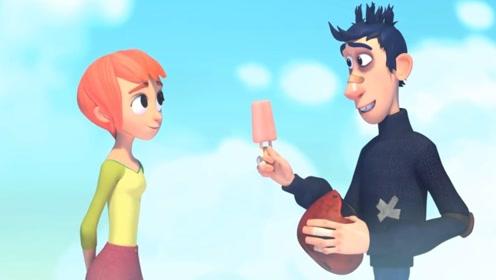 """3分钟搞笑动画,倒霉蛋意外撞上""""锦鲤""""女神,却成了最佳CP"""