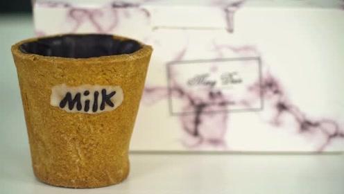 可以吃的杯子曲奇牛奶杯,一吃到底!