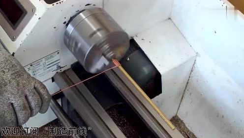 老外拿起金属一番加工,做出一个等离子地球仪,成品我给满分