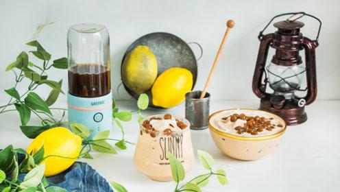 珍珠奶茶冰淇淋,甜而不腻,清新冰爽,自己在家也能做!