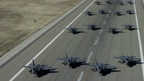 罕见F-35战斗机玩大象漫步视频曝光,画面壮观
