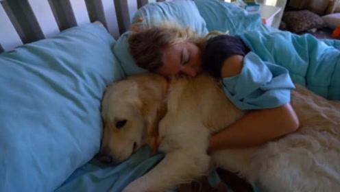 女子喜欢抱着狗狗睡,半年后身体感觉不舒服,医生一看吓一跳