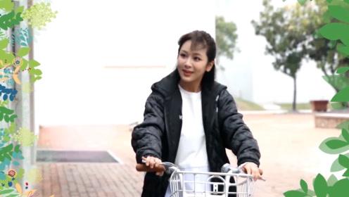 片场花絮:杨紫骑自行车秀车技,大长腿刹车超酷