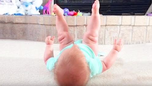 妈妈撞见9个月婴儿在床上练瑜伽,接下来的一幕,爸妈都傻眼了