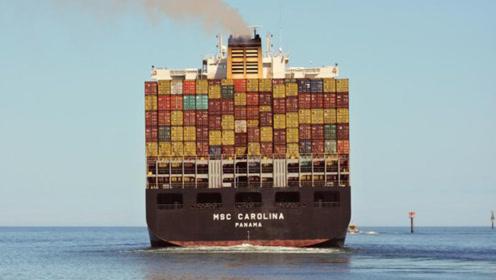 大海上的十级飓风太猛啦,4吨的集装箱都被刮跑!