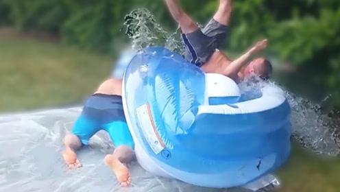 太搞笑!水上运动失误大合集,小伙快被摔蒙了
