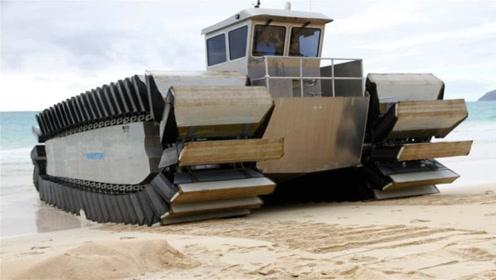 最任性的坦克,履带用泡沫块打造,水陆两栖还能翻3米高墙
