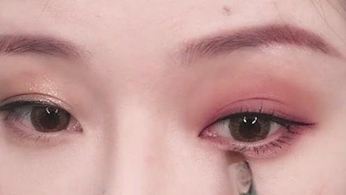 日常眼妆教程,这样画眼妆很好看,了解下