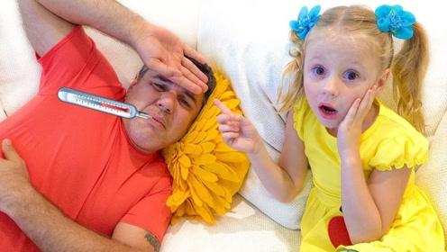 爸爸生病了,女儿抛弃以前的坏毛病,主动做起了家务活!
