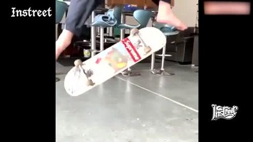赤脚尖翻,只想问一下这位滑手的脚还好吗?