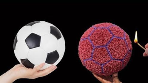 老外将上万根火柴插在足球上,点燃瞬间,场面巨震撼!