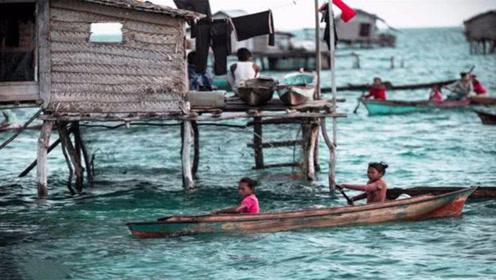 世界上唯一生活在海里的民族,能在水里行走,上了陆地却会晕倒