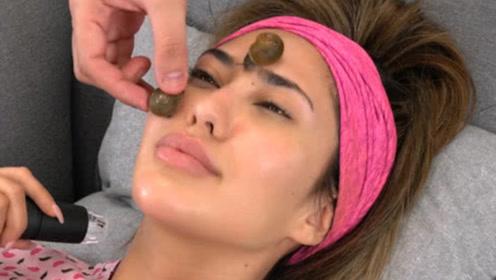 国外流行美容方式,让蜗牛在脸上爬来爬去,每分钟一百多元!
