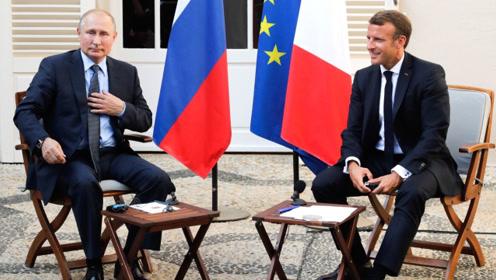 """普京当面""""怼""""法国总统:我可不想""""黄马甲""""这种事发生在莫斯科"""