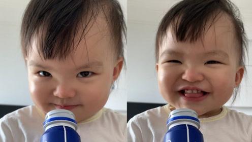 熊黛林晒女儿近照,Lyvia渐渐长开变漂亮越来越像爸爸了