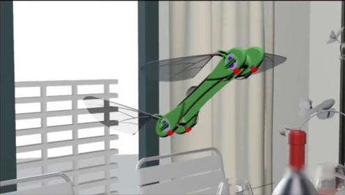 牛人发明蜻蜓机器人,手机操控,可用来监视人?