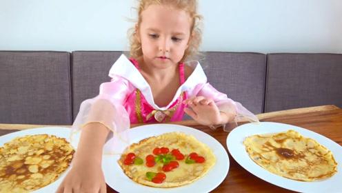 小女儿学着爸爸的模样做早餐,一番操作下来却把鸡蛋煎糊了!