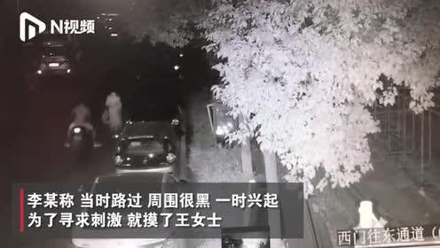 湖北武汉一女子深夜回家突遭摸臀,嫌疑人:一时兴起,被拘留5日