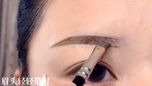 日系超温柔眉毛这样画就对了,看着整个人气质都不一样了