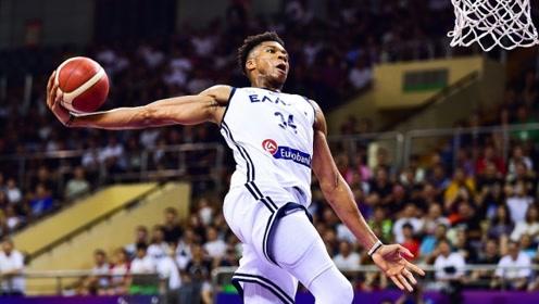 希腊VS约旦八国赛十佳球 字母哥火力全开单臂砸扣送钉板大帽