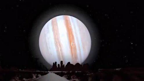 你有巨物恐惧症吗?天空塞满七大行星会是什么样