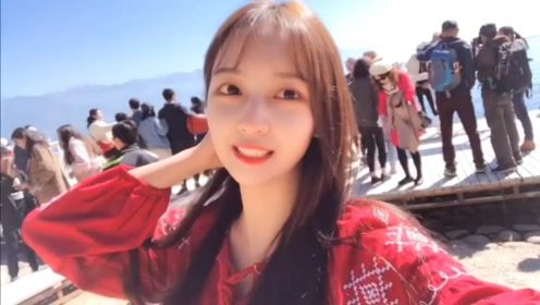 吴亦凡恋情女友鹿依Luna云南游玩视频公开,小姐姐好漂亮啊