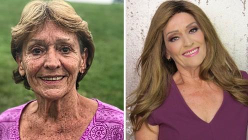 化妆大师展现逆天化妆术,80岁老奶奶变18少女,网友刮目相看