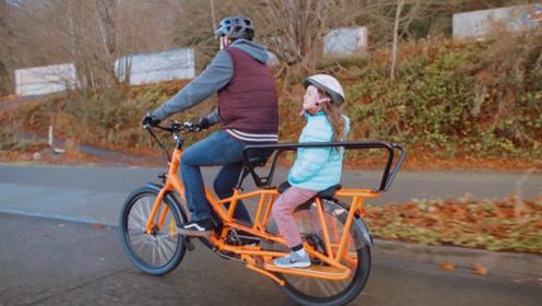 外国发明折叠电动自行车,续航80公里,接娃送货两不误