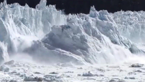 全球变暖更加严重!巨大冰川崩塌消融,无人机纪录全程!