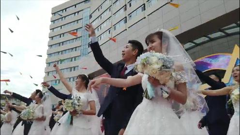 让祖国见证幸福!200对航天新人举行集体婚礼