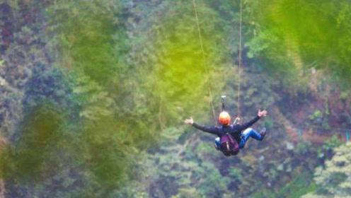 全球最刺激秋千,从160米的悬崖跳下,看着都腿软!