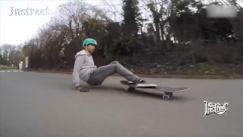 讲真,我是第一次见到有人这么玩滑板的
