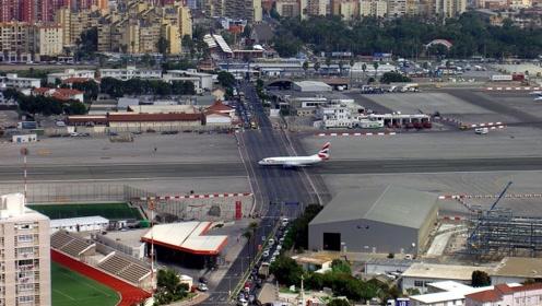 """英国最""""危险""""的机场:飞机直接在马路上飞,还敢闯红绿灯吗?"""