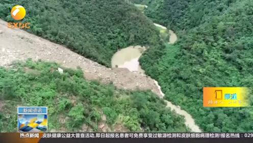 汉中洋县:持续降雨致山体滑坡 西成高铁不受影响