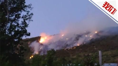 江苏花果山突发山火:燃烧面积约两千亩 400人正处置