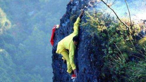 中国最危险的小庙,隐藏在悬崖绝壁中,网友:冒着危险去烧香