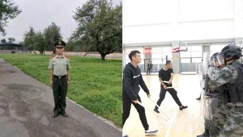 太入戏!军训演练退伍兵学长打断棍子:部队常演练,得心应手