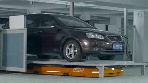中国智能停车场,机器人2分钟取车,比人工操作多停20辆