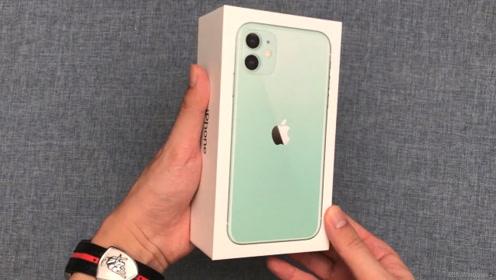 iPhone11绿色版开箱,打开盒子的那一刻:这是手机吗?