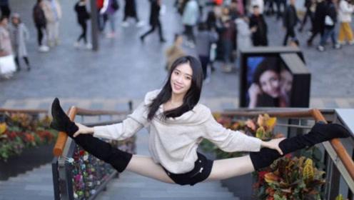 体操女神重现一字马,角度成焦点,美出天际今27岁仍单身