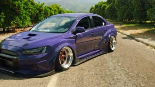 """""""紫魔""""出没,帅到没朋友的Evo X改装车"""